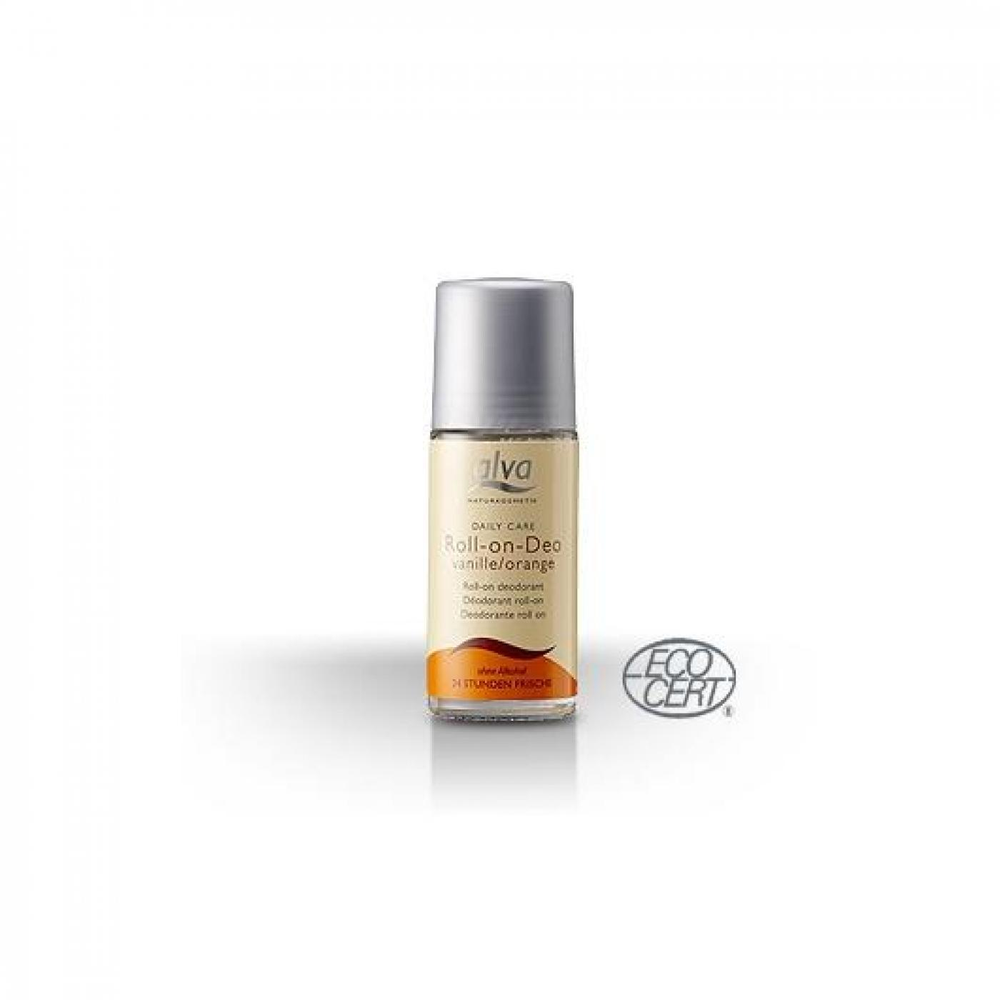 Desodorante Roll On de vainilla y naranja Alva, 50ml