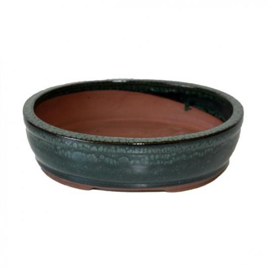 Pot à bonsaï Java ovale vert
