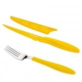 Juego de cuchillo chuletero y tenedor antiadherentes Presto Tone