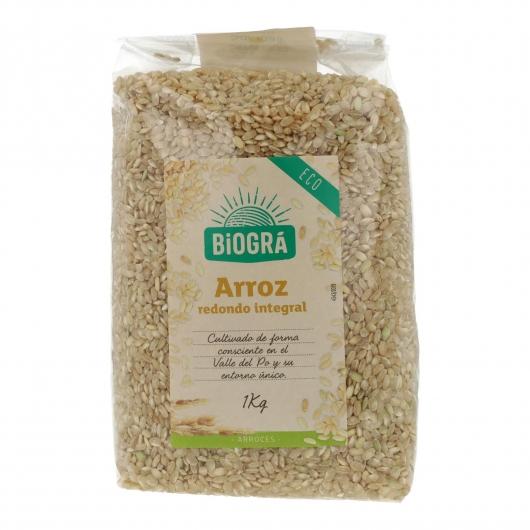 Arroz Integral grano redondo Biográ, 1 kg