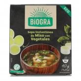 Sopa Miso rojo con Verduras Biográ, 4x10 g