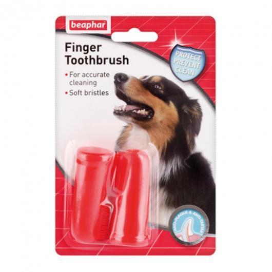 Spazzolino denti da dito per cani, 2 unità