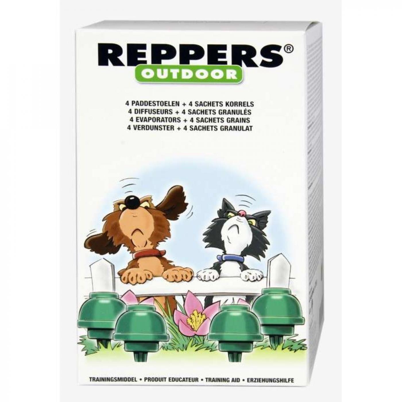 Kit de r pulsif ext rieur pour chiens et chats par 21 55 for Repulsif pour chat exterieur gratuit
