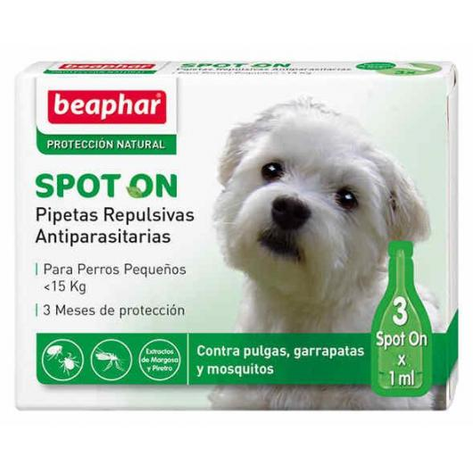 Pipettes répulsives antiparasitaires naturelles petit chien