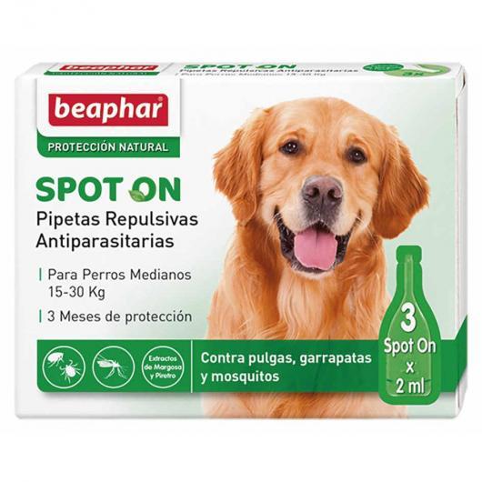 Pipettes répulsives antiparasitaires naturelles chien moyen
