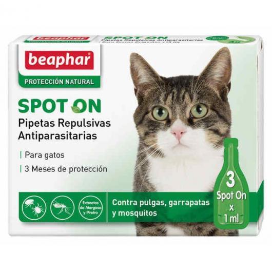 Pipettes répulsives antiparasitaires naturelles pour chats