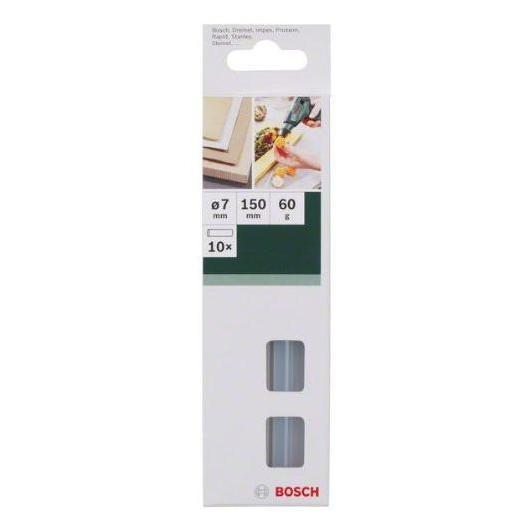 Set di 10 strisce di colla termofusibile trasparente Bosch 7 x 150 mm