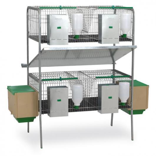 Clapier à deux étages pour lapins Laguna