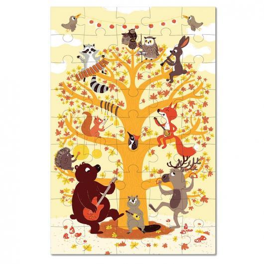 Puzzle groupe musical animaux de la forêt