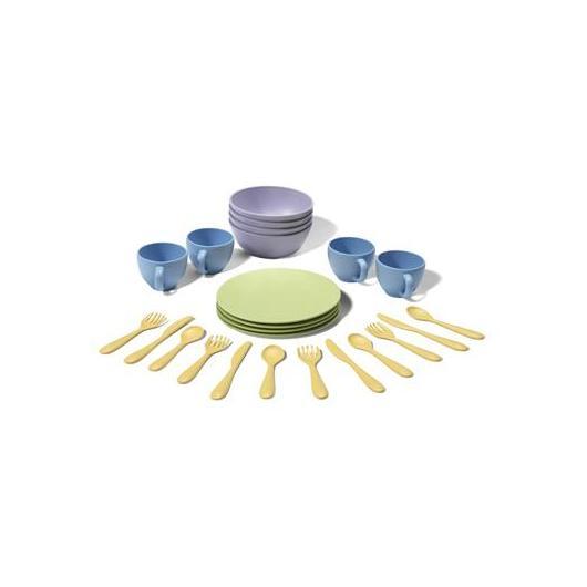 Set de platos, vasos y cubiertos