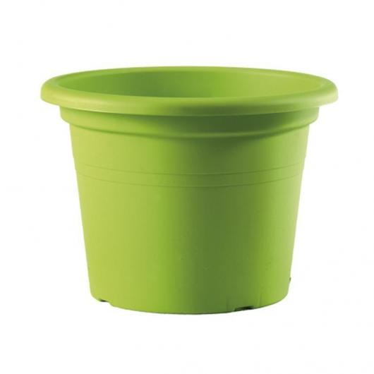 Pot de fleurs injection vert