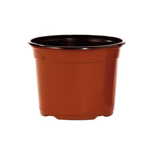 Lot de 15 pots de fleurs en polypropylène marron