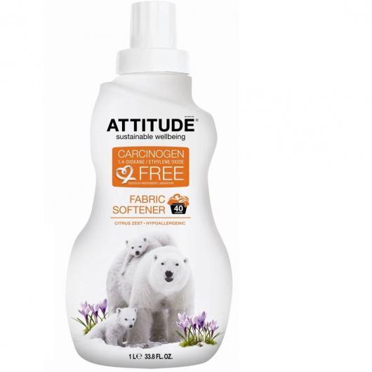 Suavizante líquido lavadora Cítrico Attitude, 40dosis