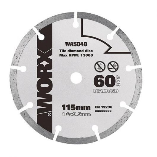 Disco da taglio diamantato 115mm per WorxSaw XL