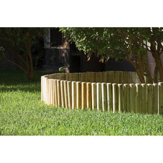 Clôture en bois souple