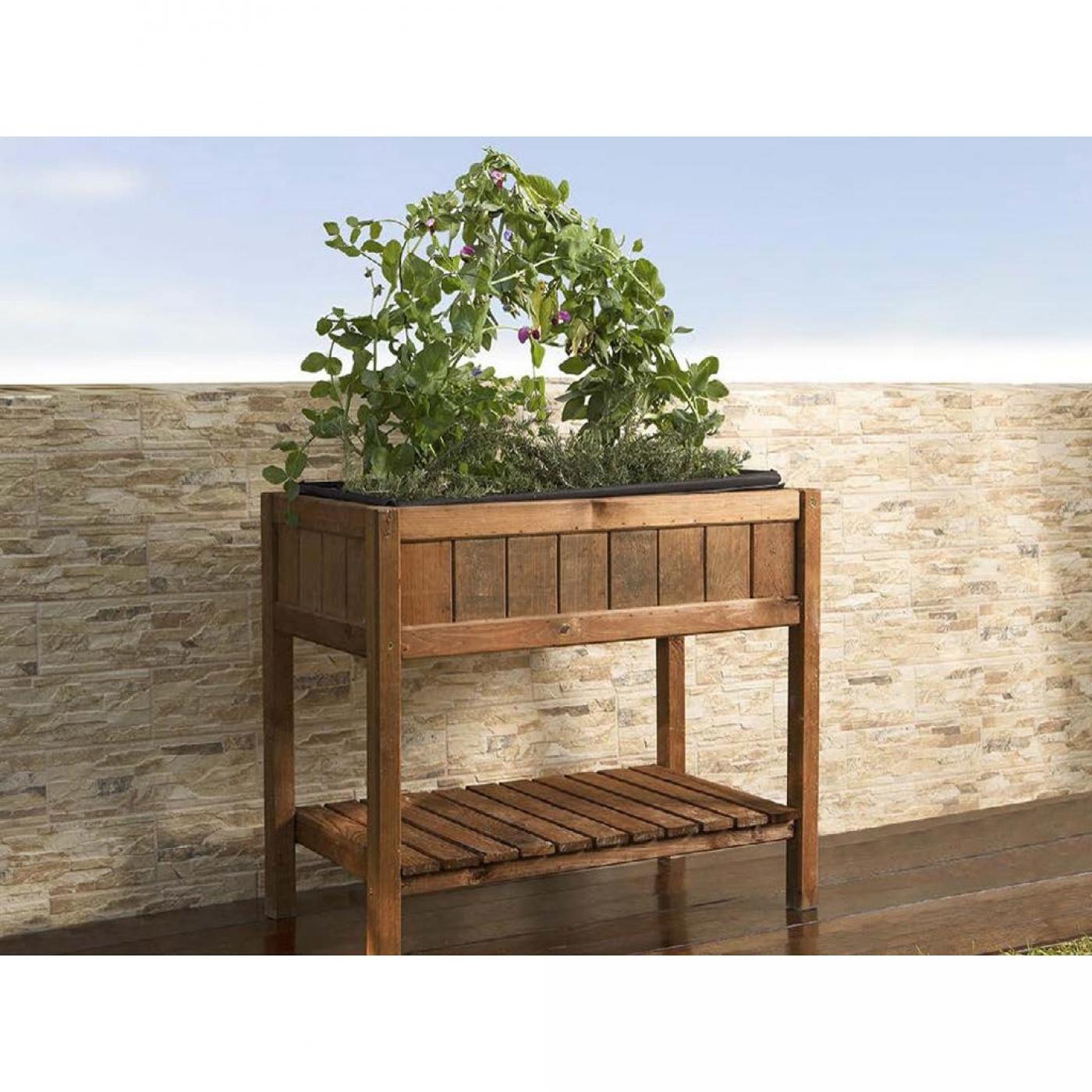 Mesa de cultivo de madera germin 40 por 62 95 en planeta for Mesas de cultivo urbano