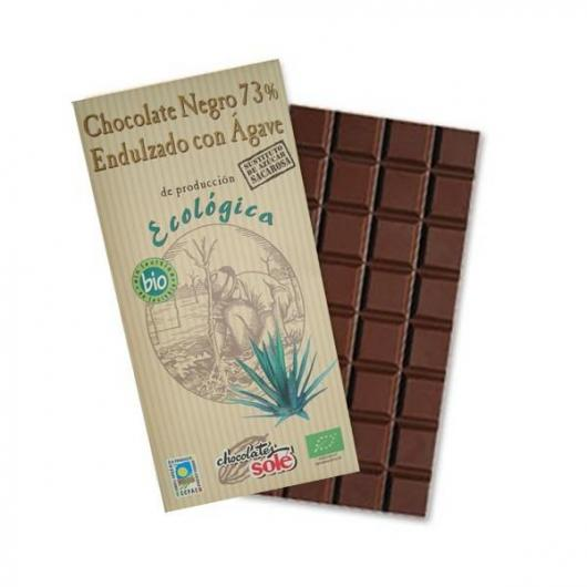 Chocolat noir 73% sucré au sirop d'agave Solé, 100 g