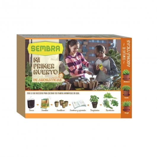 Kit pour enfants Mon premier potager de plantes aromatiques