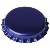 Tampinha de 29 mm azul para garrafas de champagne 100 ud