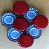 Tampinha de 29 mm vermelha com obturador de segurança comprido para garrafas de champagne 200 ud