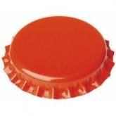 Tampinha de 26 laranja mm para garrafas normais 100 ud