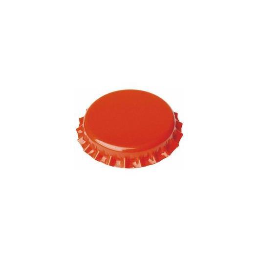Chapas de 26 mm para botellas normales, Naranjas - 100 unid