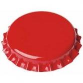 Tampinha de 26 mm vermelhas para garrafas normais 100 ud