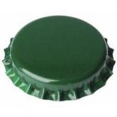 Chapas de 26 mm para botellas normales, Verdes - 100 unid