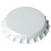 Tampinha de 26 mm brancas para garrafas normais, 100 ud
