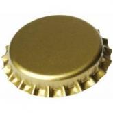 Chapas de 26 mm para botellas normales, Doradas - 100 unid