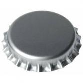 Tampinha de 26 mm prateadas para garrafas normais, 100 ud