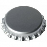 Tampinha de 26 mm prateadas para garrafas normais, 1000 ud