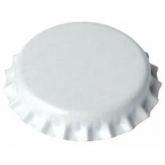 Chapas de 26 mm para botellas normales, Blancas - 1.000 unid