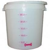 Cubo sin agujero milimetrado para 30 litros. Especial para filtrar el grano.