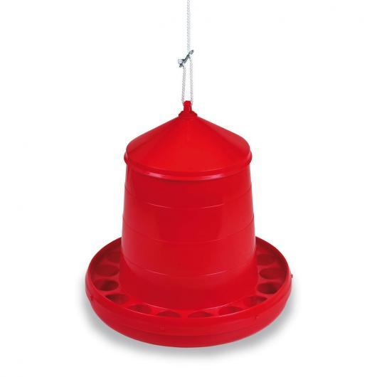 Mangiatoia a tramoggia Galline 8 kg rossa