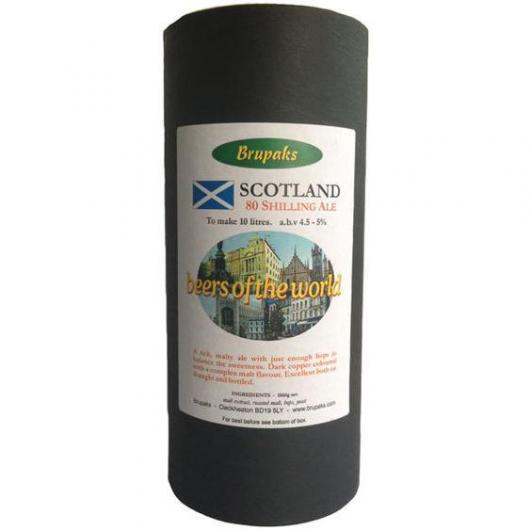 Kit de Ingredientes Scottish 80 - Beers of the World - Brupaks