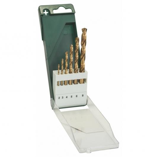 Set da 6 punte Bosch HSS-Tin per metallo