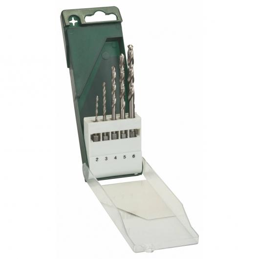 Lot de 5 forets avec tige hexagonale Bosch HSS pour le métal
