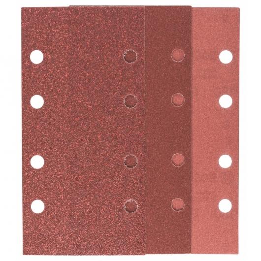 10 abrasifs Bosch avec velcro et perforation linéaire pour ponceuse orbitale 93 x 185 mm