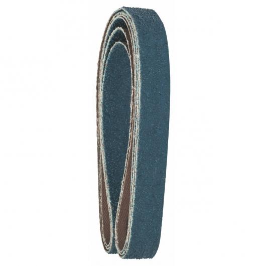 3 abrasifs Bosch pour ponceuse à bande Powerfile Black & Decker 13x451 mm pour le métal