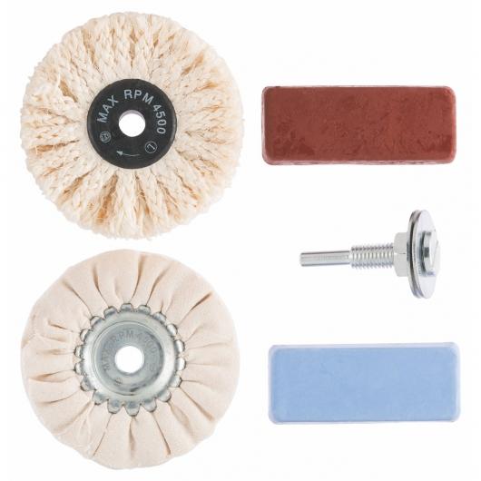 Juego de pulido profesional Bosch para metal, plástico y mármol