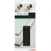 Set di 5 fogli abrasivi per levigatrice manuale Bosch 93 x 239 GR 80