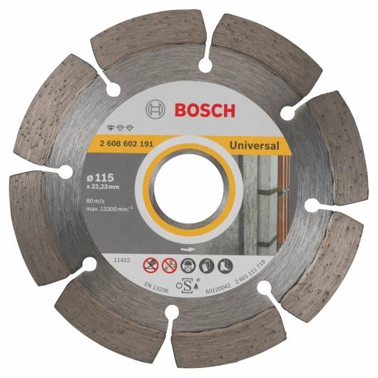 Disque de coupe diamant Bosch pour meuleuse 115 mm