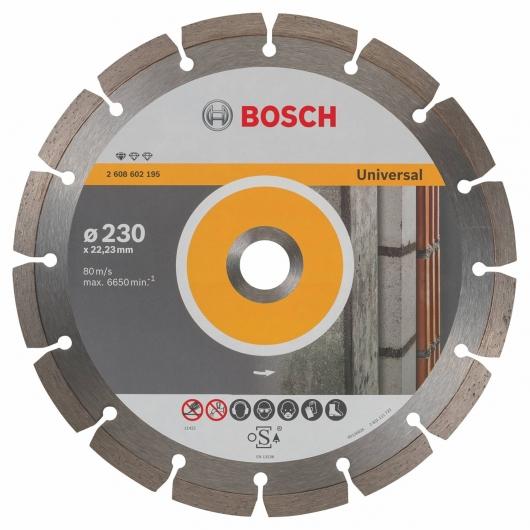Disque de coupe diamant Bosch pour meuleuse 230 mm