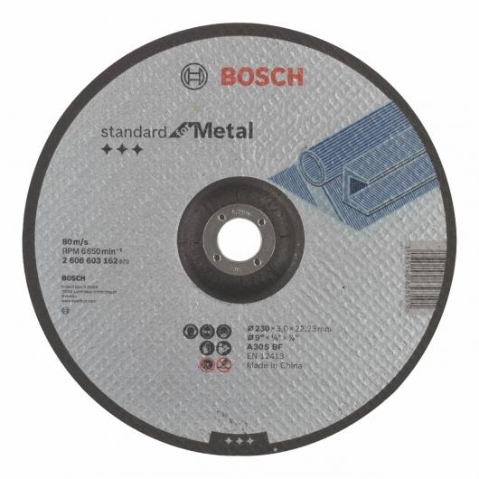 Disco de corte rebajado Bosch para amoladora 230 mm para metal