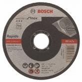 Disco de corte recto Bosch para amoladora 115 mm para metales inoxidables