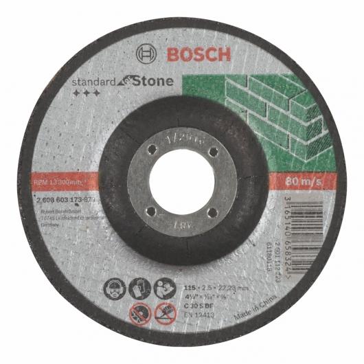 Disco de corte rebajado Bosch para amoladora 115 mm para piedra