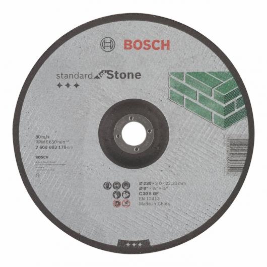 Disque de coupe décalée Bosch pour ponceuse 230 mm pour la pierre