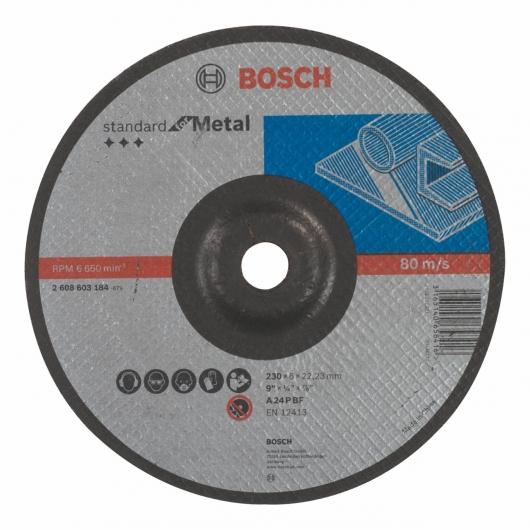 Disco de desbaste rebajado Bosch para amoladora 230 mm para metal