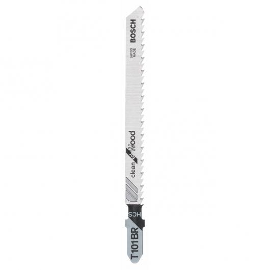 Confezione di 2 lame per sega da traforo T 101 BR Bosch per tagli precisi in legno